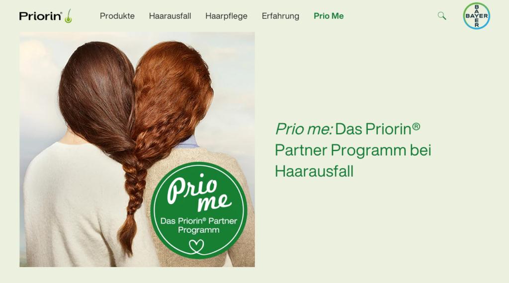 Der Prio Me 12 Wochen Kur-Newsletter auf priorin.de